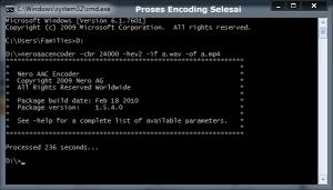Proses Encoding Selesai